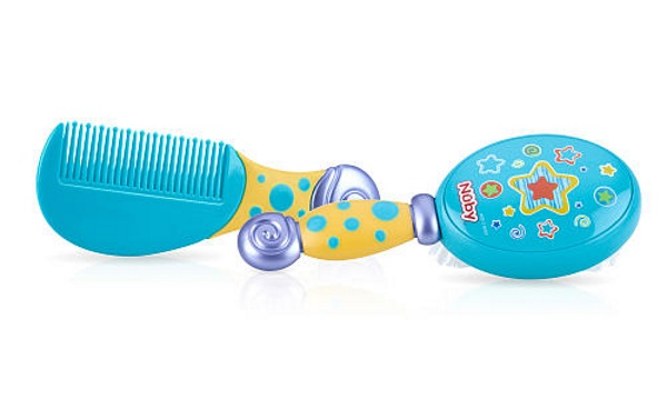 Nuby Brush and Comb set in Blue