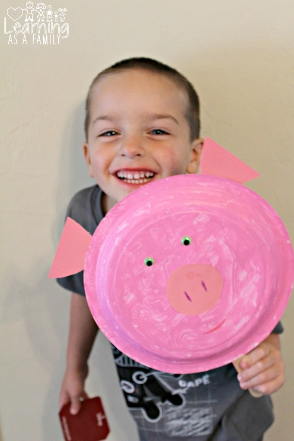 Pig Paper Plate Craft Inspired by Peppa Pig