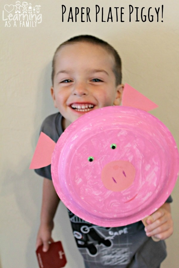Pig Paper Plate Inspired by Peppa Pig