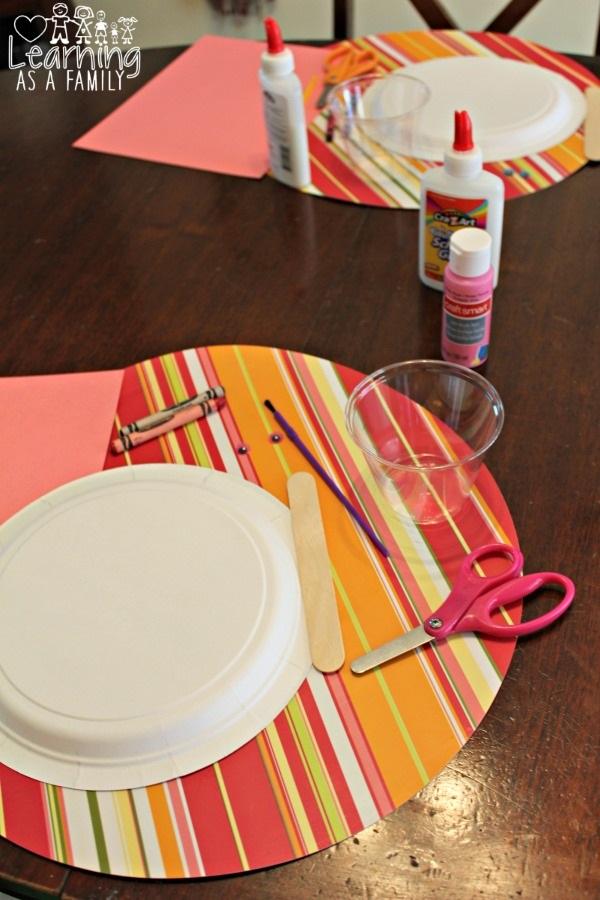 Set up Pig Paper Plate Crafts