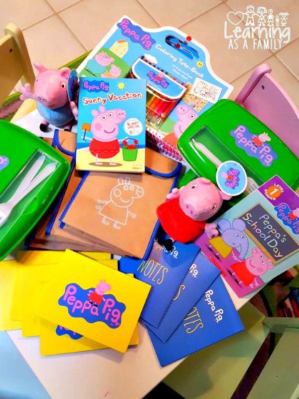 Items for a Peppa Pig Back To School Party