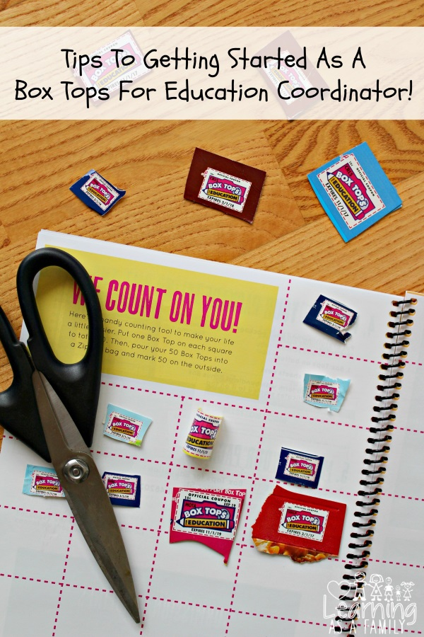 Tips To Getting Started As A Box Tops For Education Coordinator