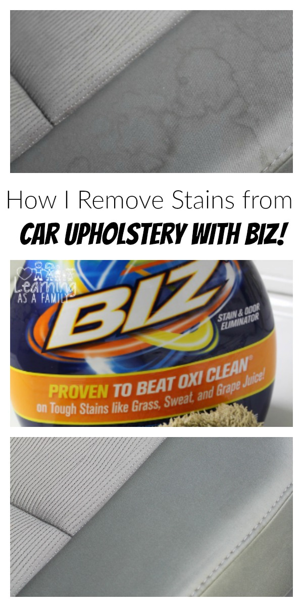 how i remove stains from car upholstery with biz learning as a family. Black Bedroom Furniture Sets. Home Design Ideas