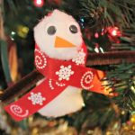 Snowman Craft Made From A Clothespin!